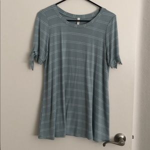 Maternity striped shirt